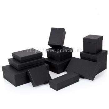 Black Colour Gift Box Rectangle Size