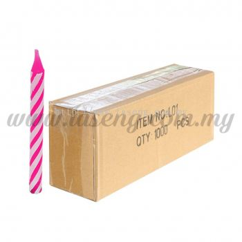 Small Candle -Pink 1box *1000pcs (CDL-L01)