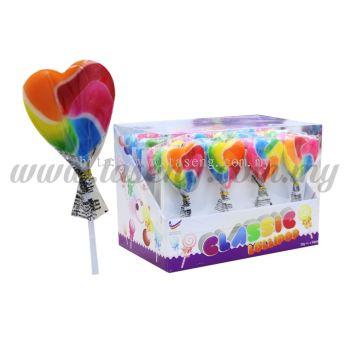Lollipop Rainbow Heart 1box *24pcs (CD-CP-RH)