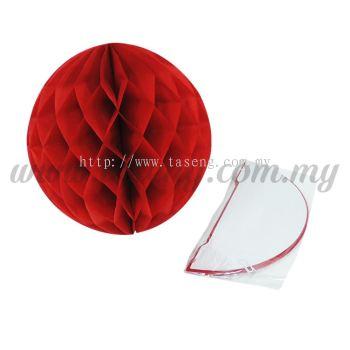 25cm Honeycomb Ball Red (PD-HC25-01)