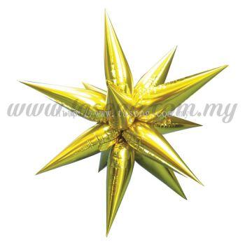 Foil Balloon Taper Star (L) Gold 12pcs (FB-783-LG12)