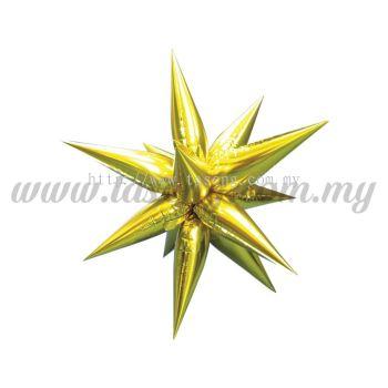 Foil Balloon Taper Star (S) Gold (FB-783-SG12)