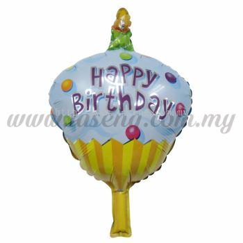 [Birthday] Mini Foil Balloon *Blue Cupcake (FB-S-T005)
