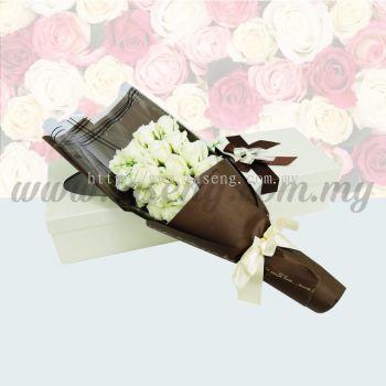 21pcs Soap Flower -White (FW-21W)