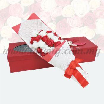 21pcs Soap Flower -White & Red (FW-21WR)