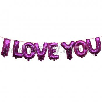 17inch I Love You Foil Balloon Set *Pink (FB-WD-S1702P_