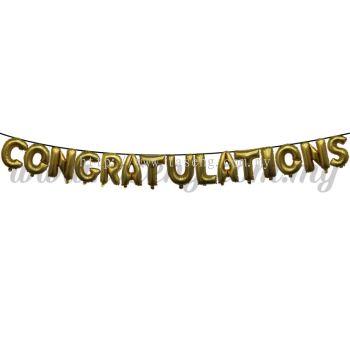 17inch Congratulations Foil Balloon Set *Gold (FB-OC-S1701G)