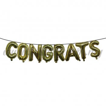 18inch Congrats Foil Balloon Set *Gold (FB-MC-T018)