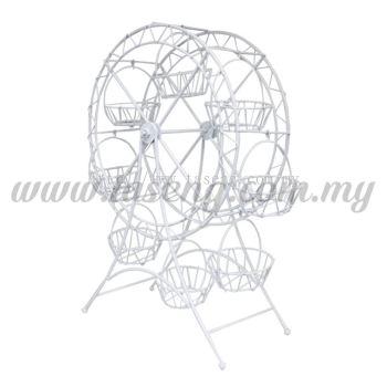 White Ferris Wheel Cup Cake Holder (P-CS-NX1)