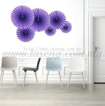 Paper Fan * Plain Lavender - 6pcs (PD-PF-80178)