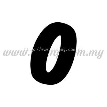 "Sticker Number ""0"" - Bold (SK-0NUM6-0)"
