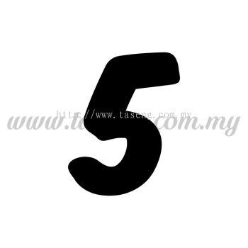 "Sticker Number ""5"" - Bold (SK-0NUM6-5)"
