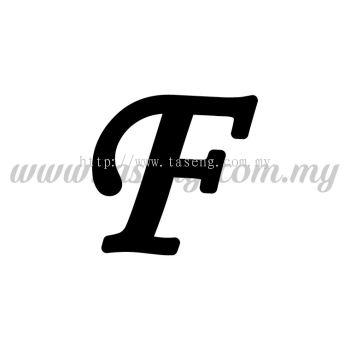 Sticker Alphabet F - Regular (SK-AALP5-F)