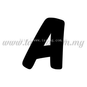 Sticker Alphabet A - Bold (SK-AALP6-A)
