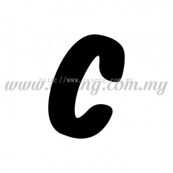 Sticker Alphabet C - Bold (SK-AALP6-C)