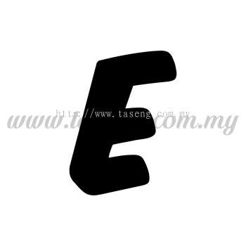 Sticker Alphabet E - Bold (SK-AALP6-E)