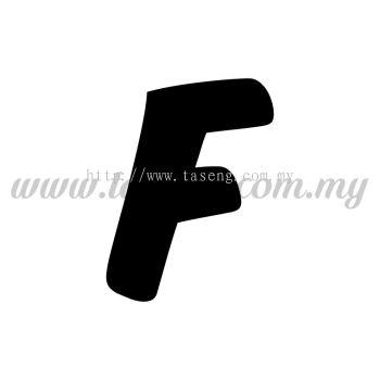 Sticker Alphabet F - Bold (SK-AALP6-F)