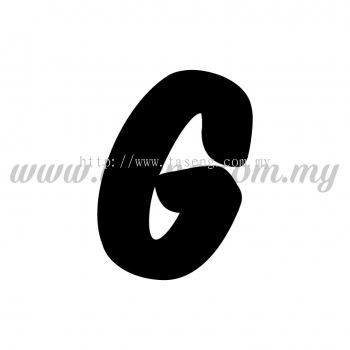 Sticker Alphabet G - Bold (SK-AALP6-G)