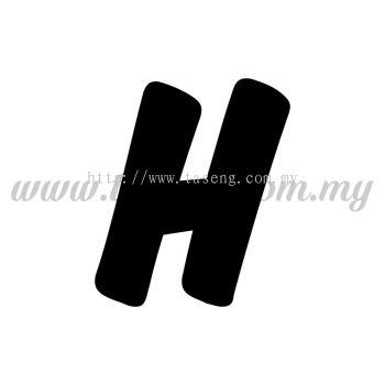 Sticker Alphabet H - Bold (SK-AALP6-H)
