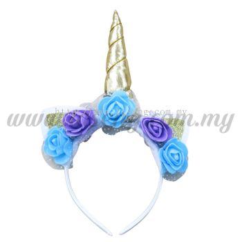 Hairband Unicorn - Gold & Blue (DU-HB20-4GB)