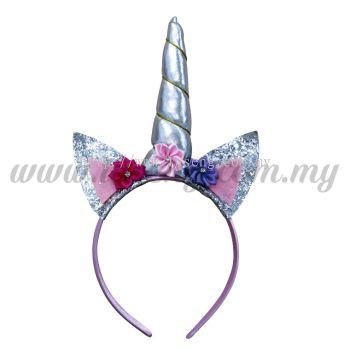 Hairband Unicorn - Silver (DU-HB20-5SI)