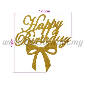 Cake Topper Happy Birthday (CT-HB-10G)