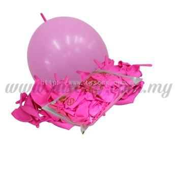 12inch Standard Link Balloons - Pink 100pcs (B-12SRL-S3)