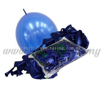 12inch Metallic Link Balloons - Blue 100pcs (B-12MRL-M4)