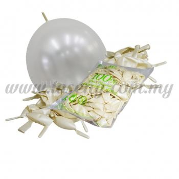 12inch Pearl Link Balloons - White 100pcs (B-12MRL-P1)