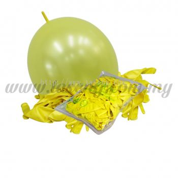 12inch Pearl Link Balloons - Yellow 100pcs (B-12MRL-P5)