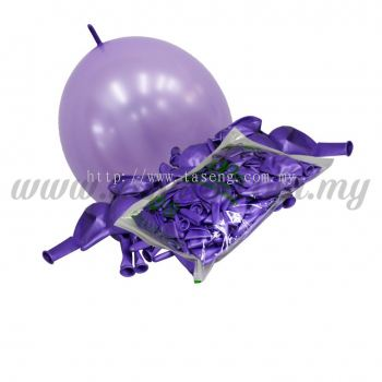 12inch Pearl Link Balloons - Lavender 100pcs (B-12MRL-P8)