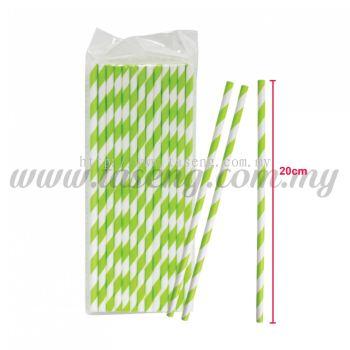 Paper Straw Stripe - Green (P-SAW-9001GN)