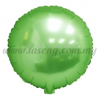 Foil Balloon Round - Lime Green (FB-SLB077-LG)