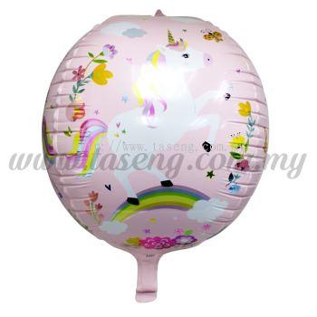 4D Foil Balloon Unicorn - Baby Pink (FB-A497-BP)
