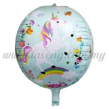 4D Foil Balloon Unicorn - Mint Green (FB-A497-MG)