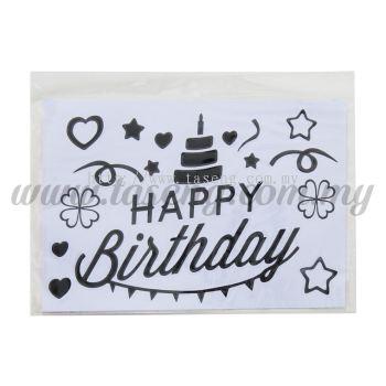 Sticker (Happy Birthday) - Black (SK-HB5-BL)