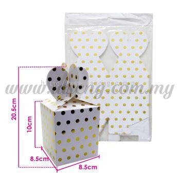 Gift Box Polka Dot - Gold 1pack *6pcs (BX-GB2-GO)