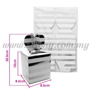 Gift Box Stripe - Silver 1pack *6pcs (BX-GBS-SI)