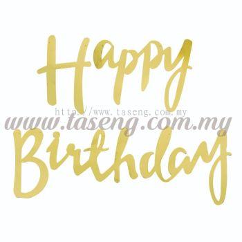 Banner Happy Birthday - Gold (P-BN-0009-GO)