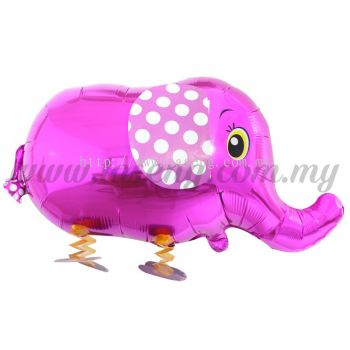 Walking Pet Foil Balloons - Elephant Magenta (FB-SLG015-MA)