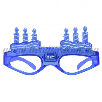 Sunglasses Happy Birthday with Flash Light - Blue (DU-SGHB-01B)