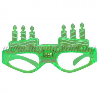 Sunglasses Happy Birthday with Flash Light - Green (DU-SGHB-01G)
