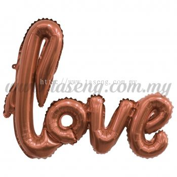 "Foil Balloon ""Love"" - Rose Gold (FB-ALLV-RG)"
