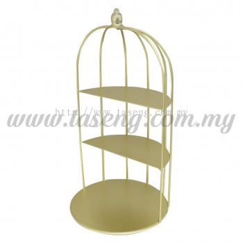 Cupcake Stand 3 Layer Bird Cage - Gold (P-CS-BC1-GO)