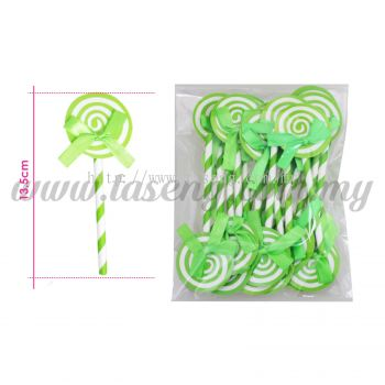 Cake Topper Lollipop - Lime Green 1pack * 20pcs (CT-01-LGN20)