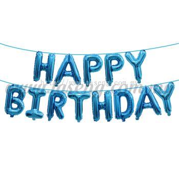 16inch Happy Birthday Foil Balloon Set *Blue(FB-MC-T003)