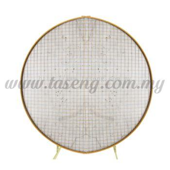 Balloon Arch - Gold (Round Grid Shape) - (B-AC-RG-GO)