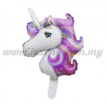 [Cartoon] Mini Foil Balloon *Unicorn Purple (FB-S-0062Y)