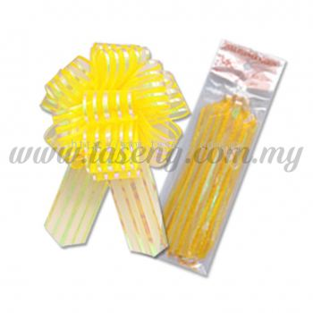 30mm Pull Flower Ribbon - Golden Yellow 1 Piece (RB-1PF30-GY)