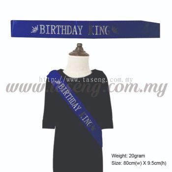 Sash - Birthday King - Blue (P-AC-SABK-B)